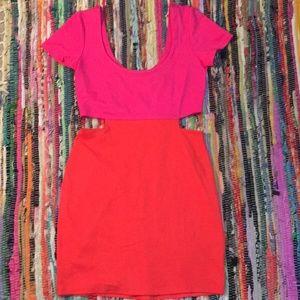 Color Block Cut-Out Dress!